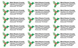 010 Unique Christma Shipping Label Template Free Idea  Addres Mailing