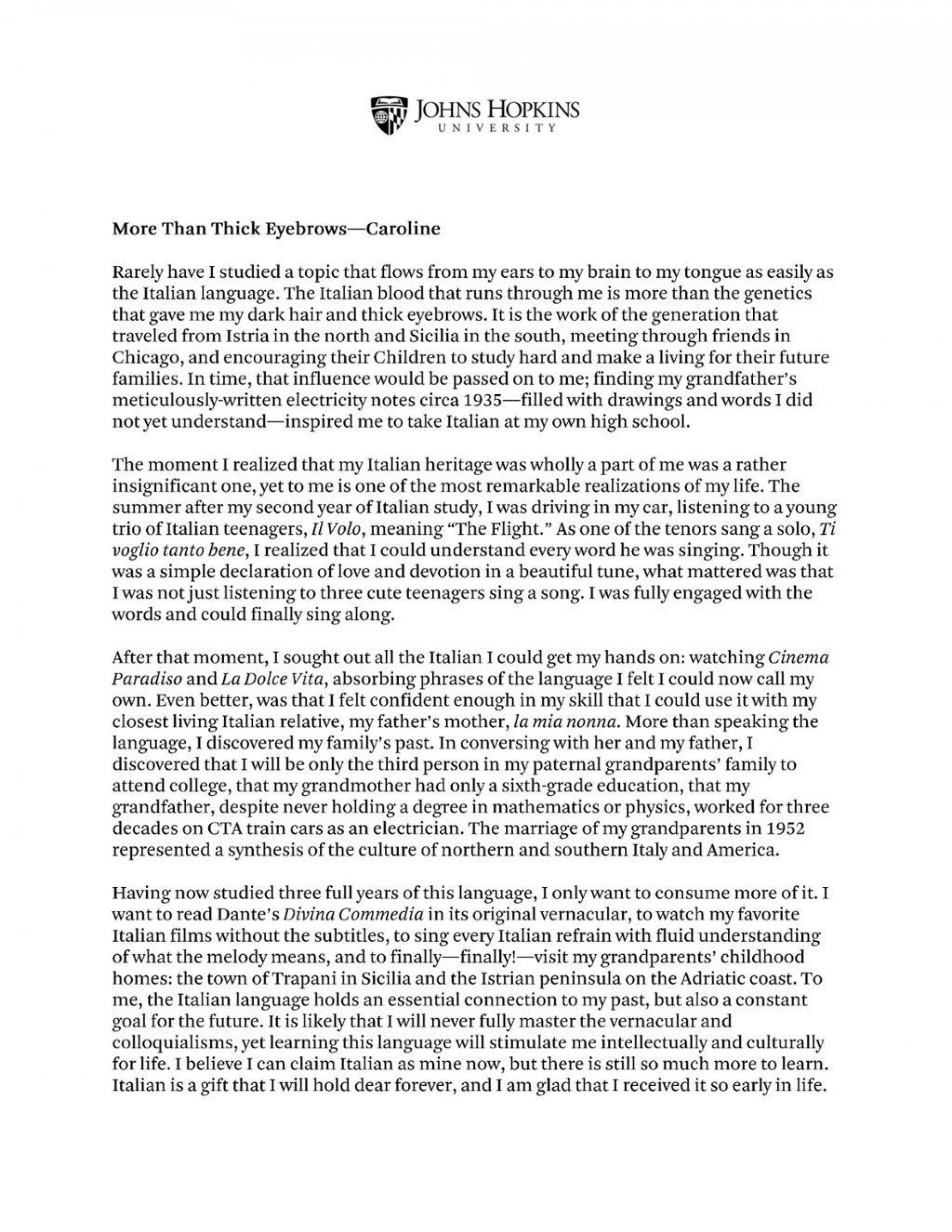 010 Unique College Essay Format Example Idea  Examples Writing Application Sample Admission1920