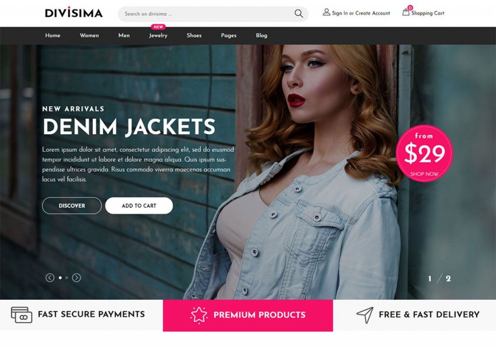 010 Unique Free Ecommerce Website Template Download Example  Shopping Cart Bootstrap 3Large