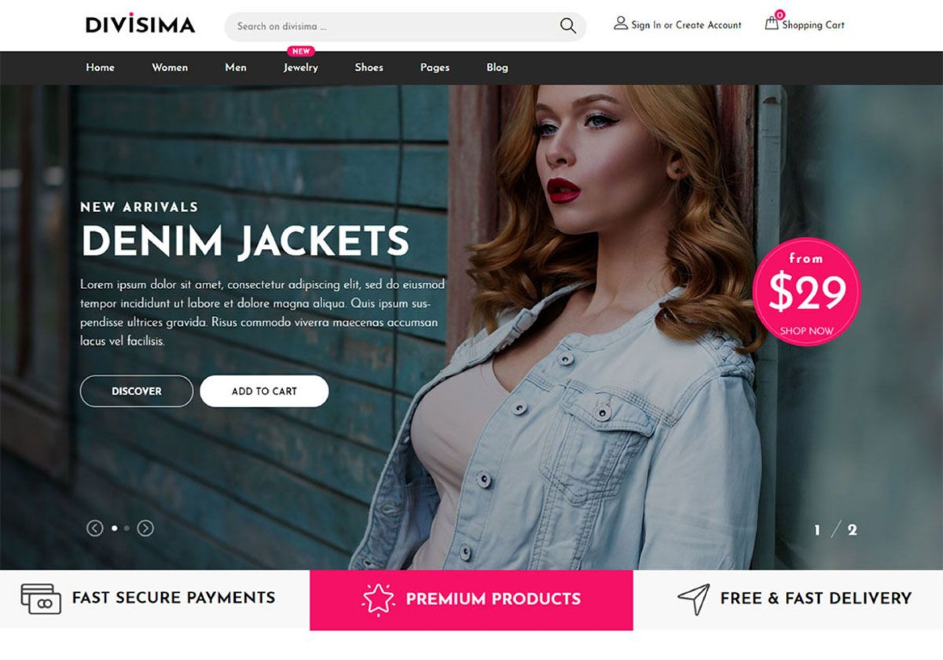 010 Unique Free Ecommerce Website Template Download Example  Shopping Cart Bootstrap 31920