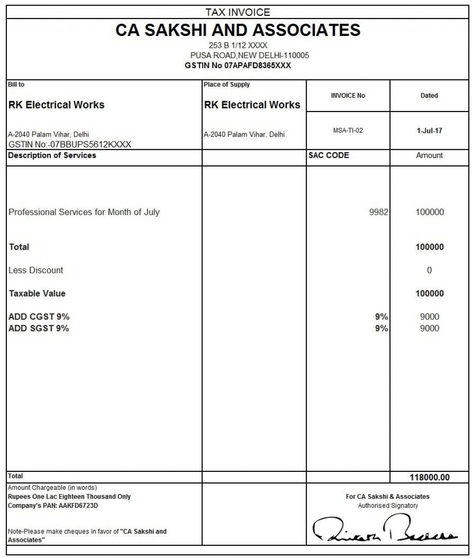 010 Unique Free Excel Invoice Template Gst India Concept Large
