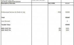 010 Unique Free Excel Invoice Template Gst India Concept