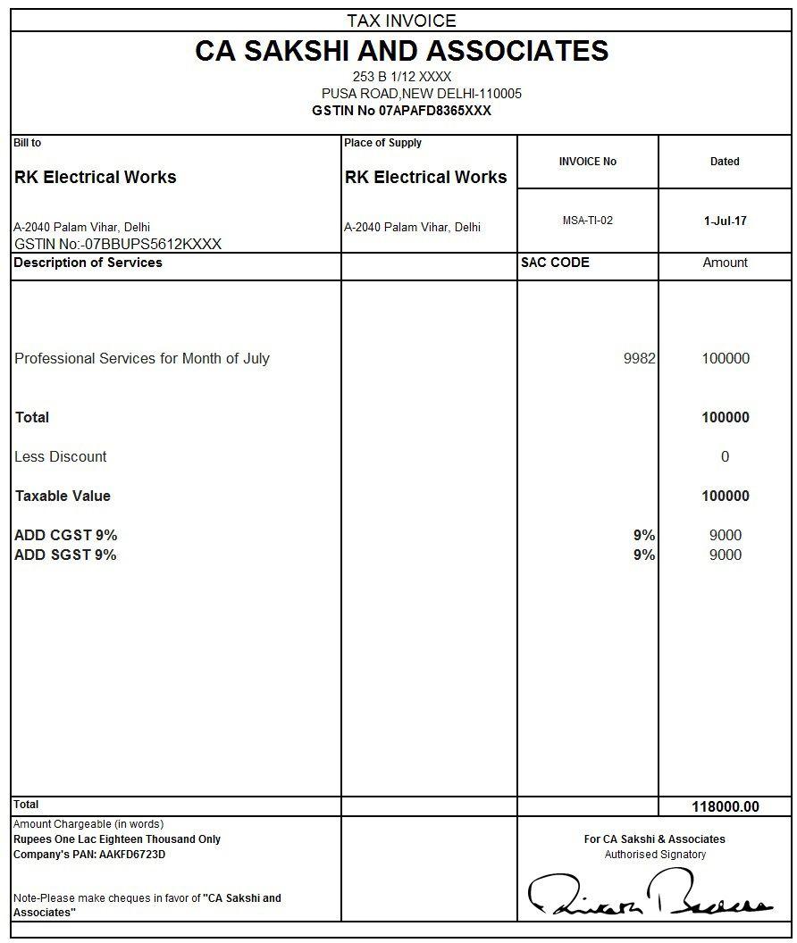 010 Unique Free Excel Invoice Template Gst India Concept Full
