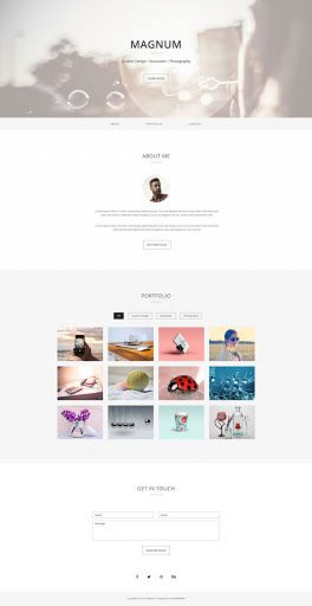 010 Unique Free Portfolio Website Template Inspiration  Templates For Web Developer Photography Html5Large