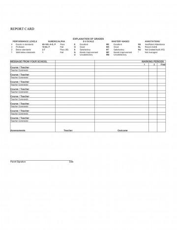 010 Unique Middle School Report Card Template Pdf High Definition 360