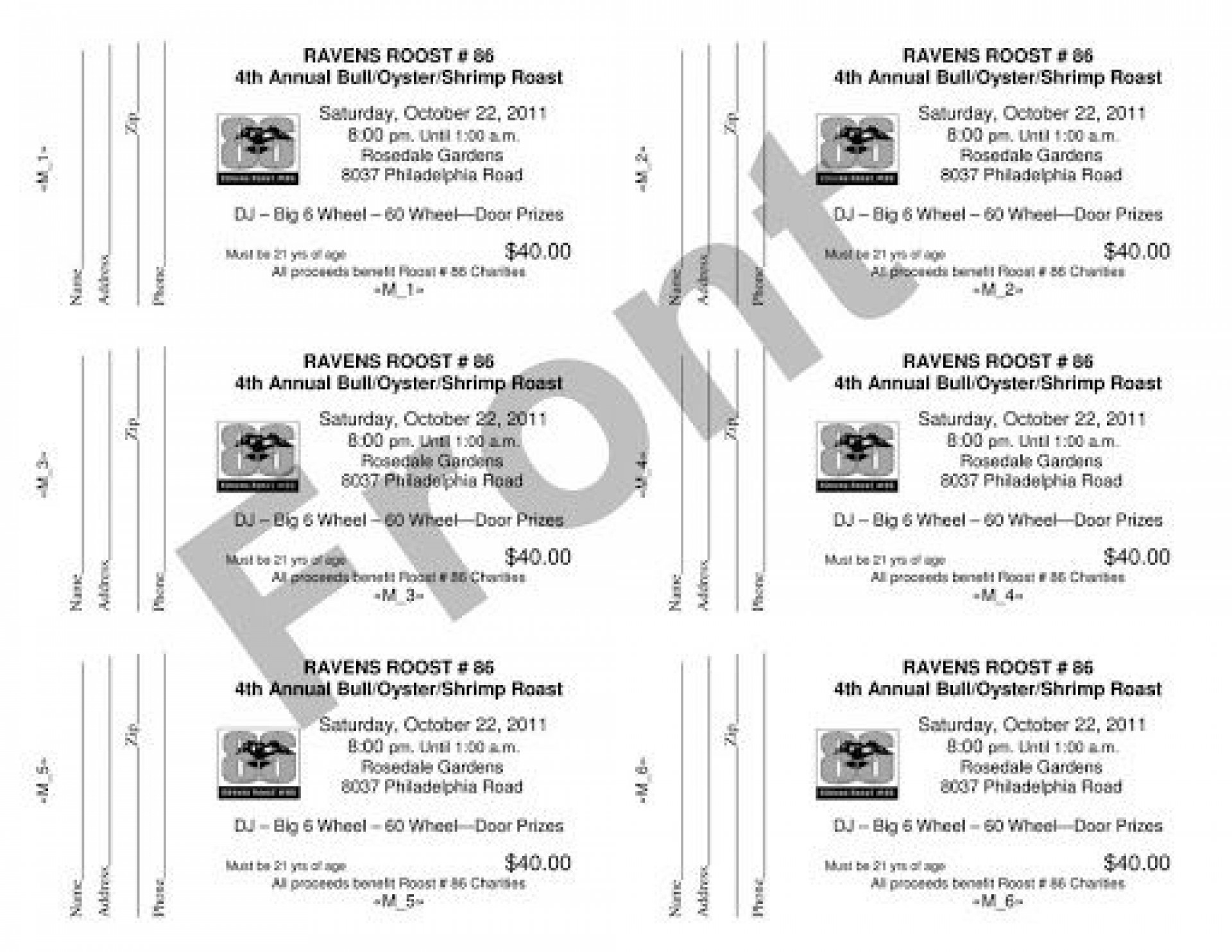 010 Unique Word Raffle Ticket Template Example  2010 Free Printable Microsoft1920