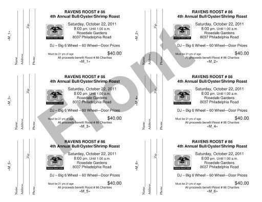 010 Unique Word Raffle Ticket Template Example  2010 Free Printable MicrosoftFull