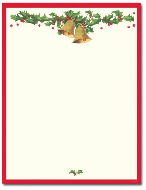 010 Unusual Free Holiday Stationery Template For Word Design 480