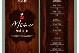 010 Unusual Free Menu Template Download High Resolution  Beauty Parlour Card Html Design Restaurant