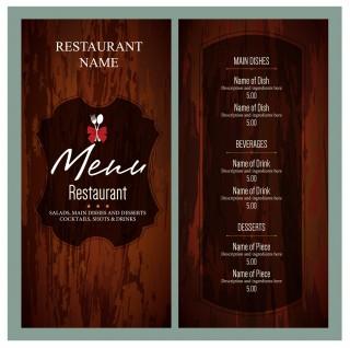 010 Unusual Free Menu Template Download High Resolution  Beauty Parlour Card Html Design Restaurant320