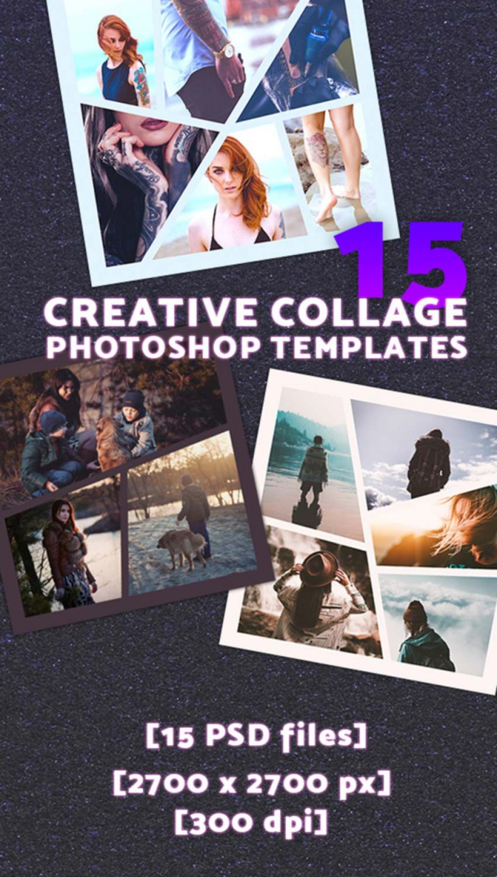 010 Unusual Free Photoshop Collage Template Design  Templates Psd Download Photo For ElementLarge