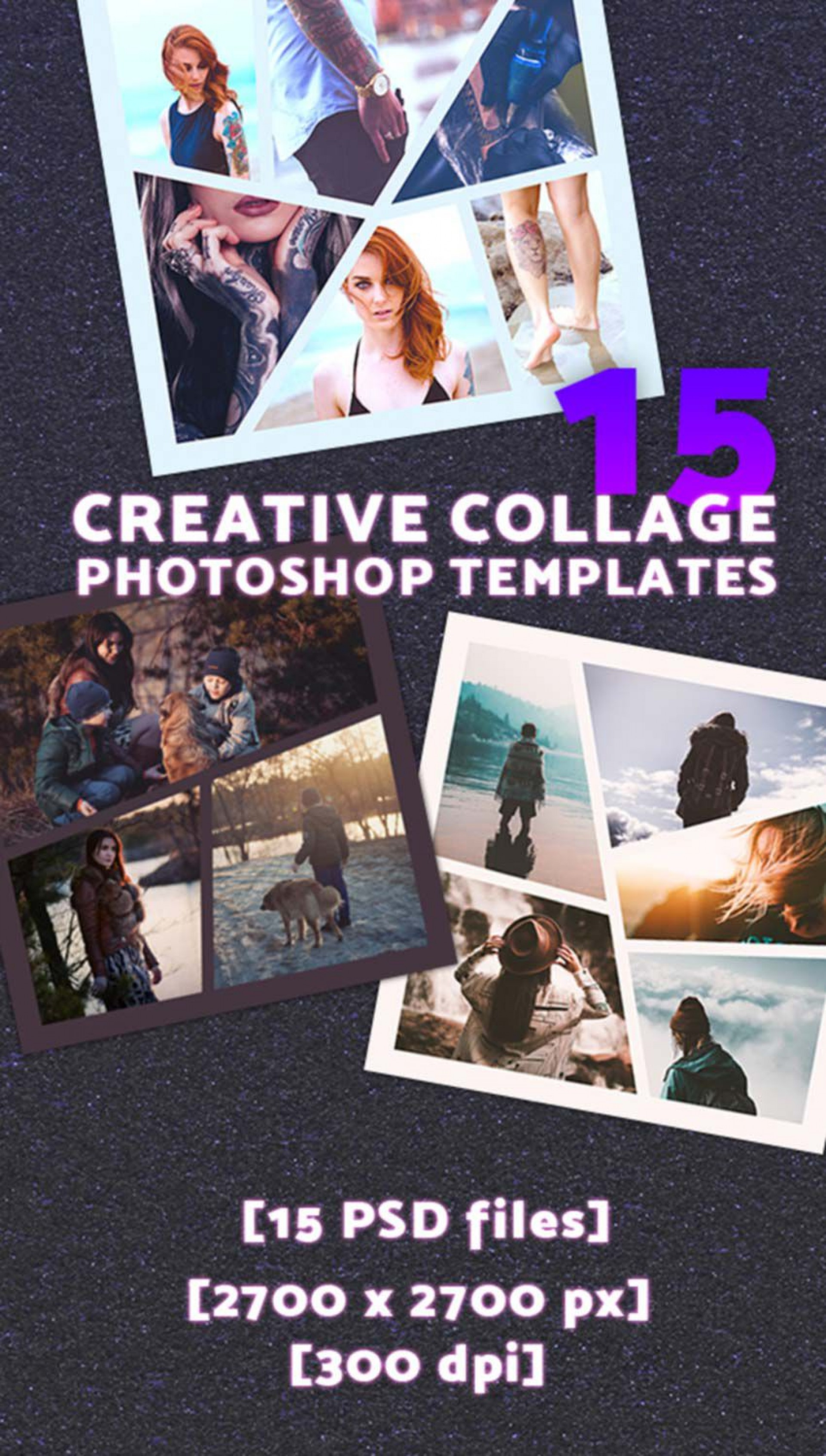 010 Unusual Free Photoshop Collage Template Design  Templates Psd Download Photo For Element1920