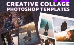 010 Unusual Free Photoshop Collage Template Design  Templates Psd Download Photo For Element