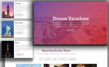 010 Unusual One Page Website Template Html5 Responsive Free Download Photo 360