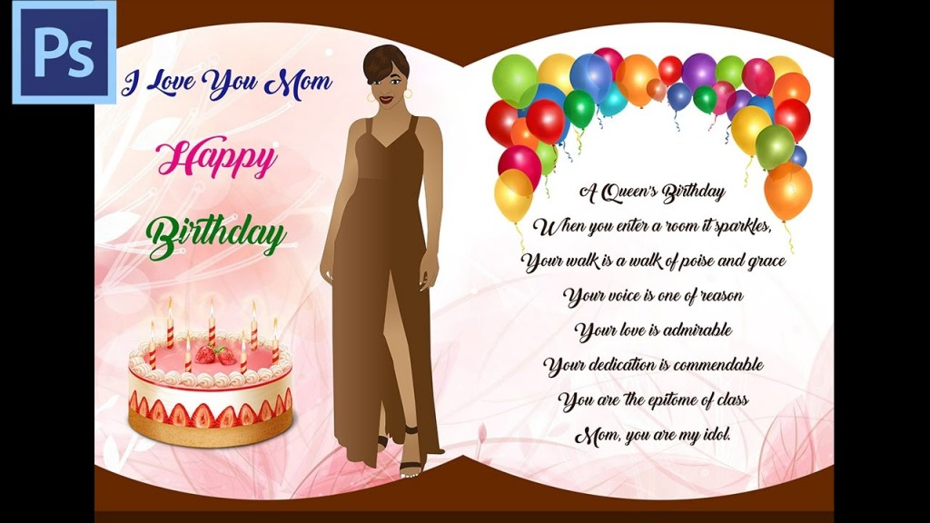 010 Wonderful Birthday Card Template Photoshop Image  Greeting Format 4x6 FreeLarge
