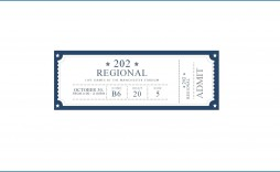 010 Wonderful Free Printable Ticket Template Design  Raffle Printing Airline For Gift Concert