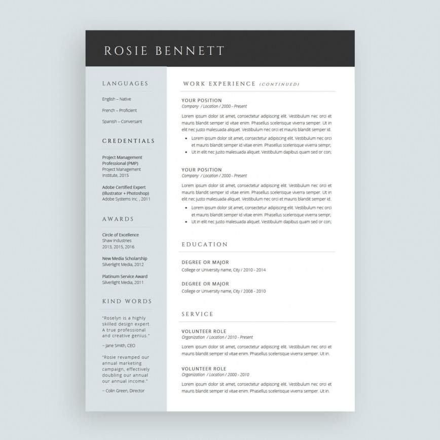 Resume Template On Word Addictionary