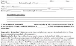 010 Wonderful Wedding Videographer Contract Template High Definition  Videography Pdf