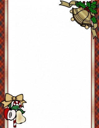010 Wondrou Christma Stationery Template Word Free Inspiration  Religiou For Downloadable320