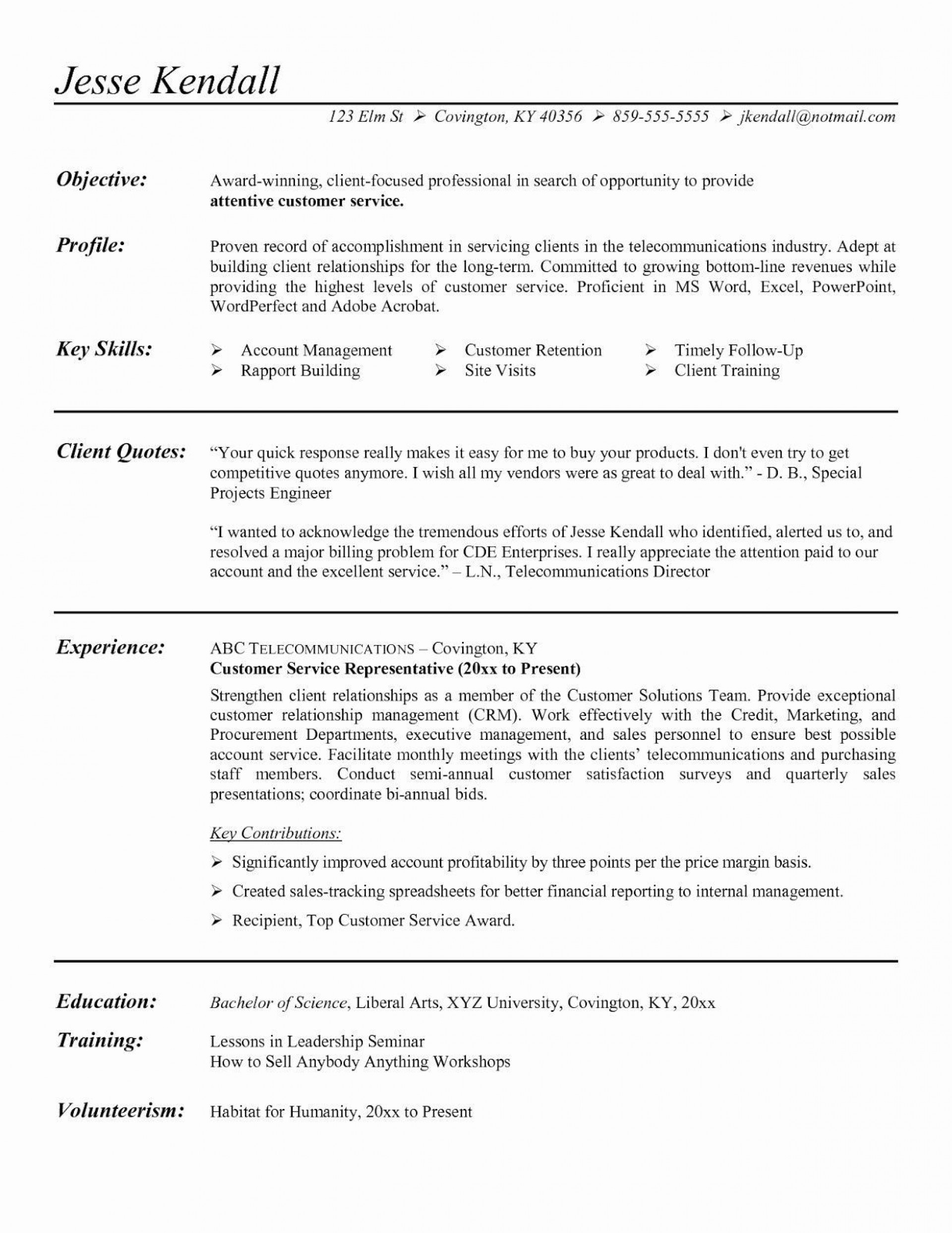 010 Wondrou Customer Service Resume Template Inspiration  Cv1920