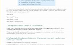 010 Wondrou Executive Summary Template Word Free Concept