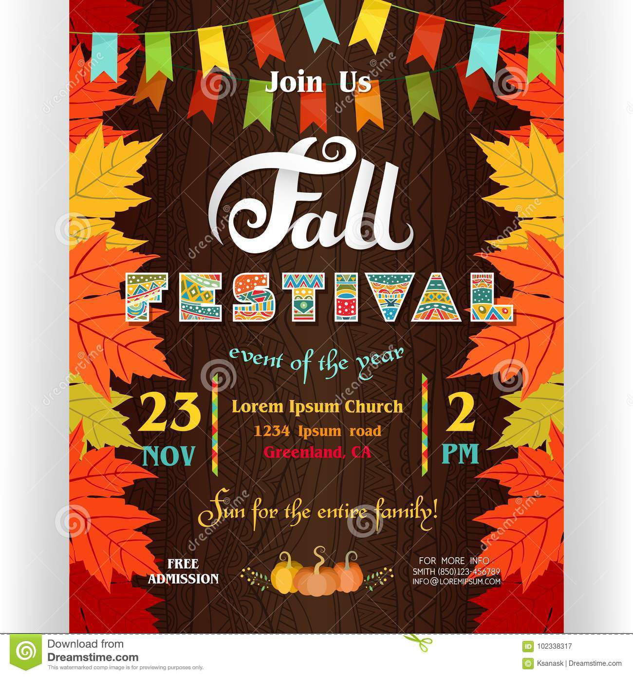 Fall Event Flyer Template Free from www.addictionary.org