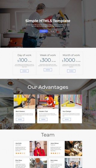 010 Wondrou Simple Web Page Template High Def  Html Website Free Download In Design Using And Cs320