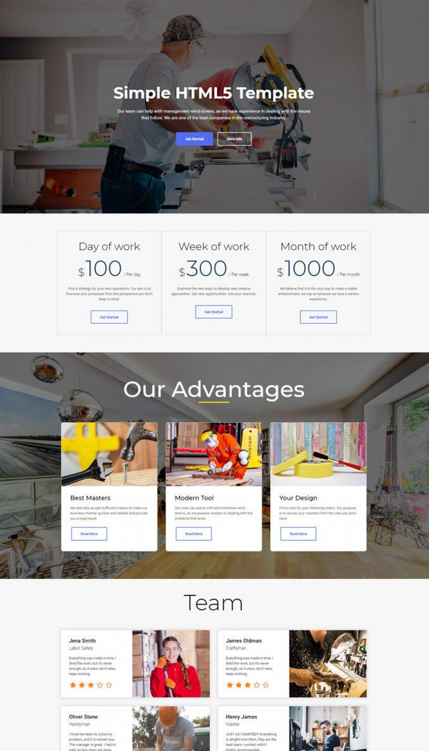 010 Wondrou Simple Web Page Template High Def  Html Website Free Download
