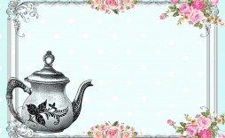 011 Amazing Tea Party Invitation Template Concept  Templates High Free Download Bridal Shower