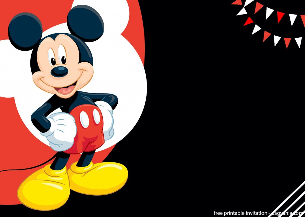 011 Archaicawful Mickey Mouse Invitation Template Design  Free Diy 1st Birthday Baby DownloadLarge