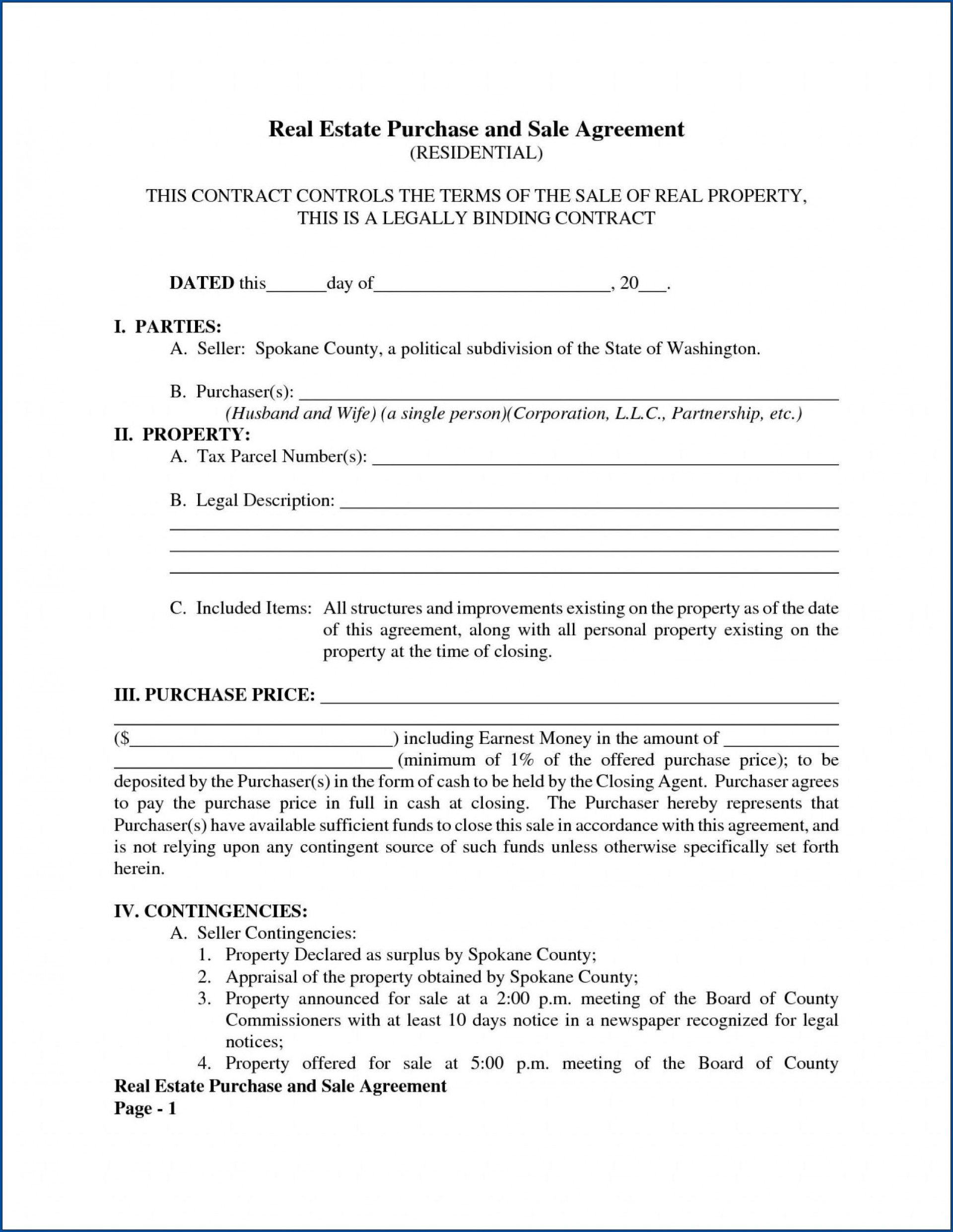 011 Awesome Free Home Purchase Contract Template Inspiration 1920