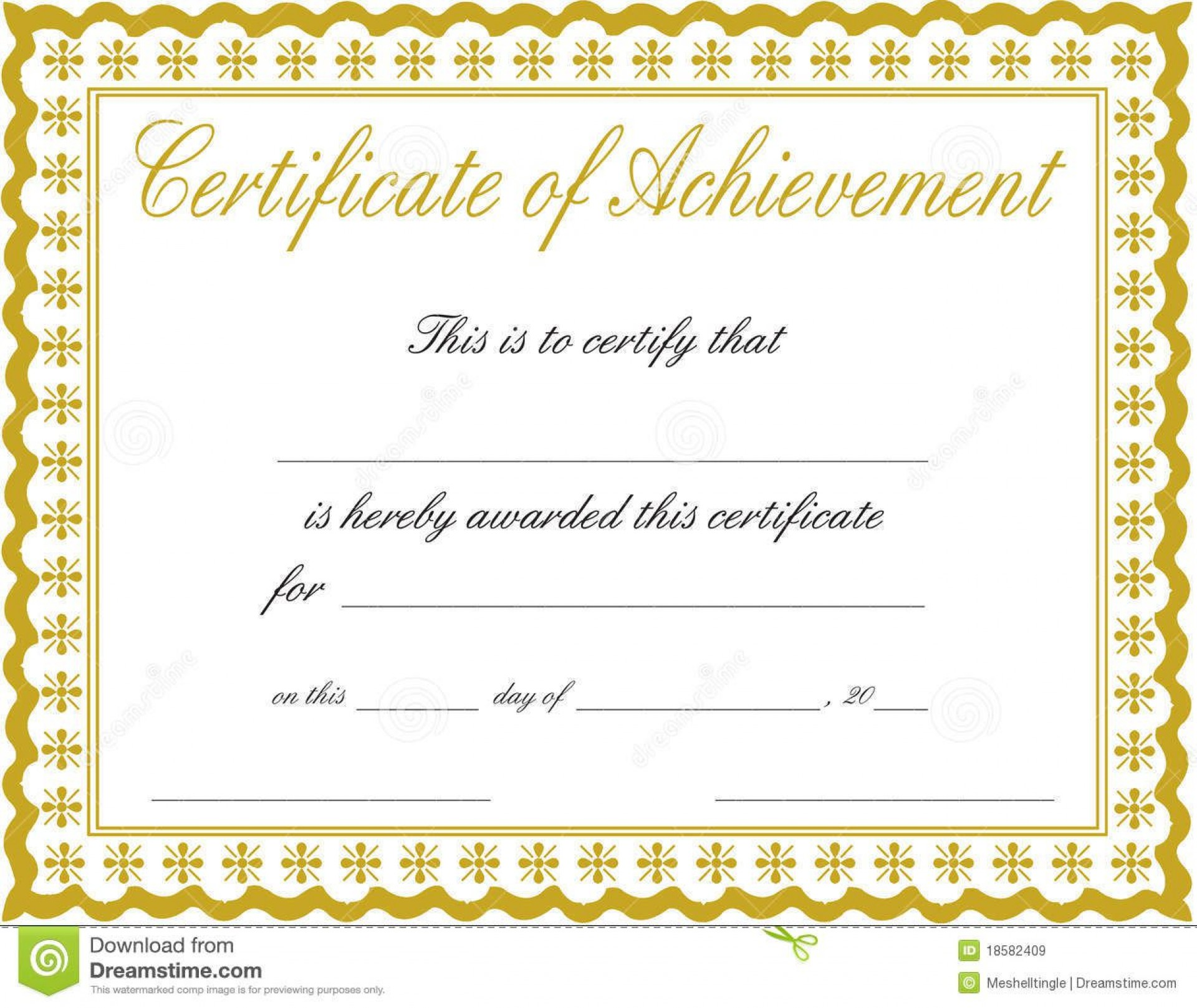 011 Awesome Free Template For Certificate Inspiration  Certificates Online Of Completion Attendance Printable Participation1920