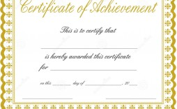 011 Awesome Free Template For Certificate Inspiration  Certificates Online Of Completion Attendance Printable Participation
