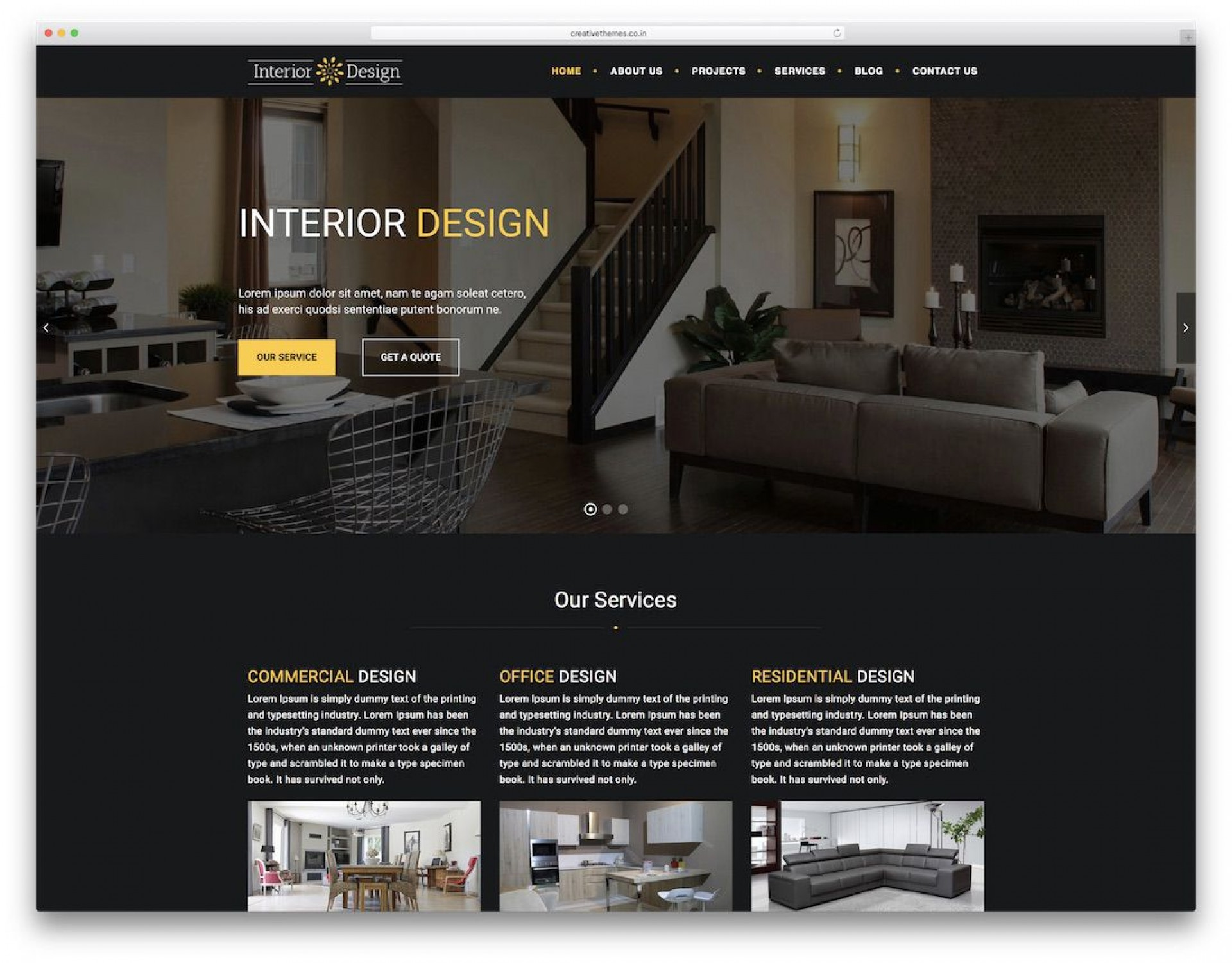 011 Awesome Interior Design Website Template High Definition  Templates Company Free Download Html1920