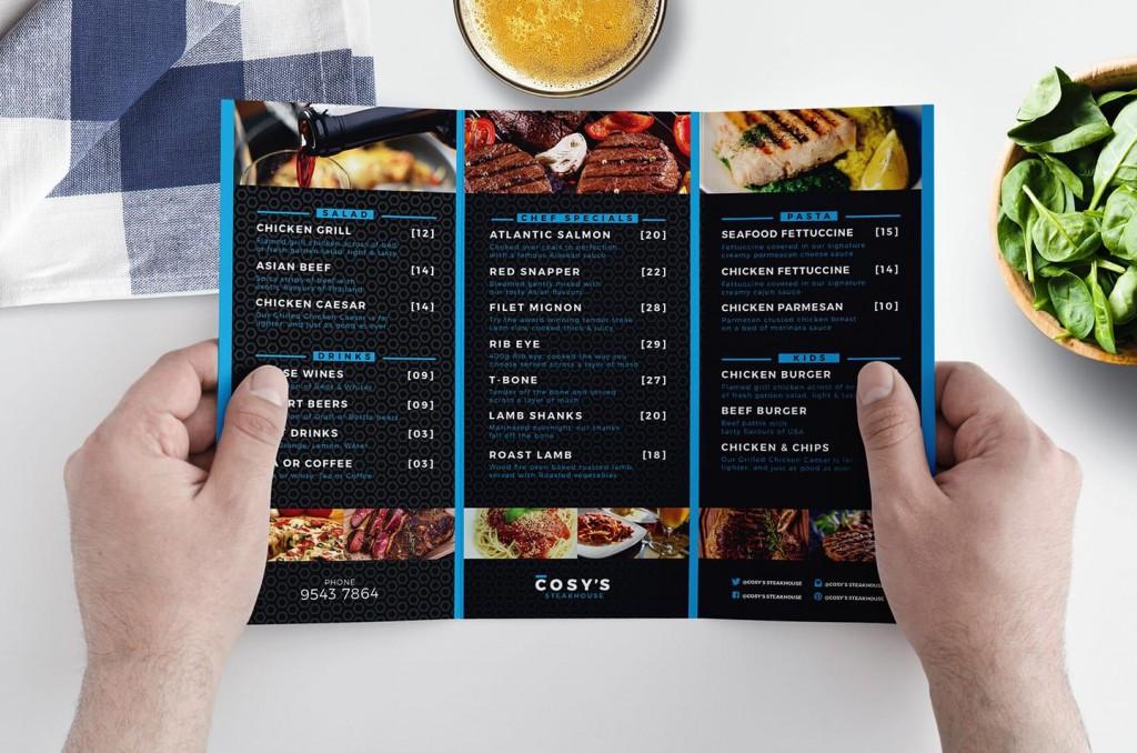 011 Awesome Tri Fold Menu Template High Resolution  Templates Restaurant Tri-fold Food Free PsdLarge