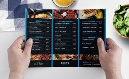 011 Awesome Tri Fold Menu Template High Resolution  Templates Restaurant Tri-fold Food Free Psd