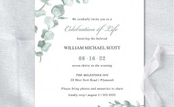 011 Beautiful Funeral Invitation Template Free Sample  Memorial Service Card Reception