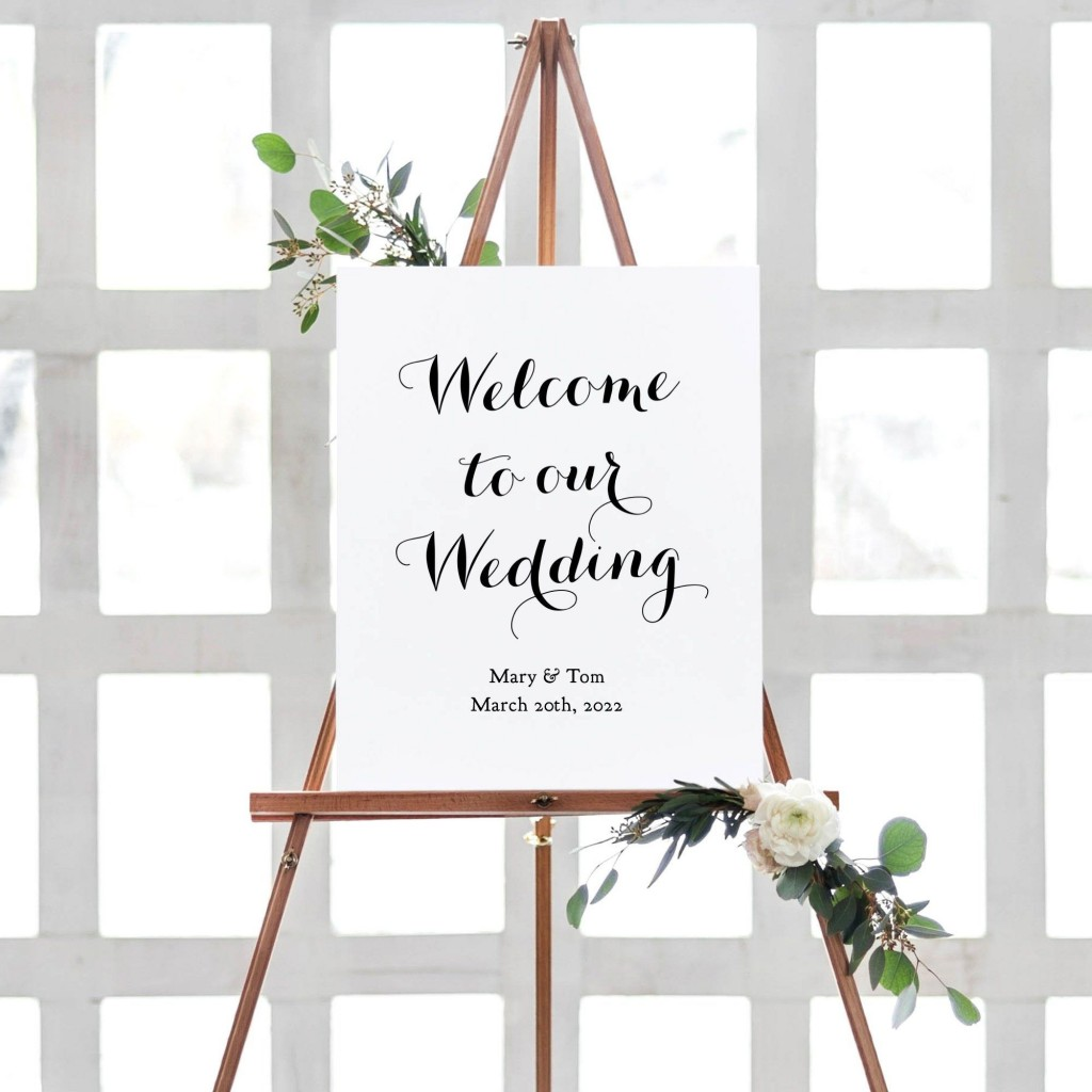 011 Beautiful Wedding Welcome Sign Printable Template Highest Quality  FreeLarge