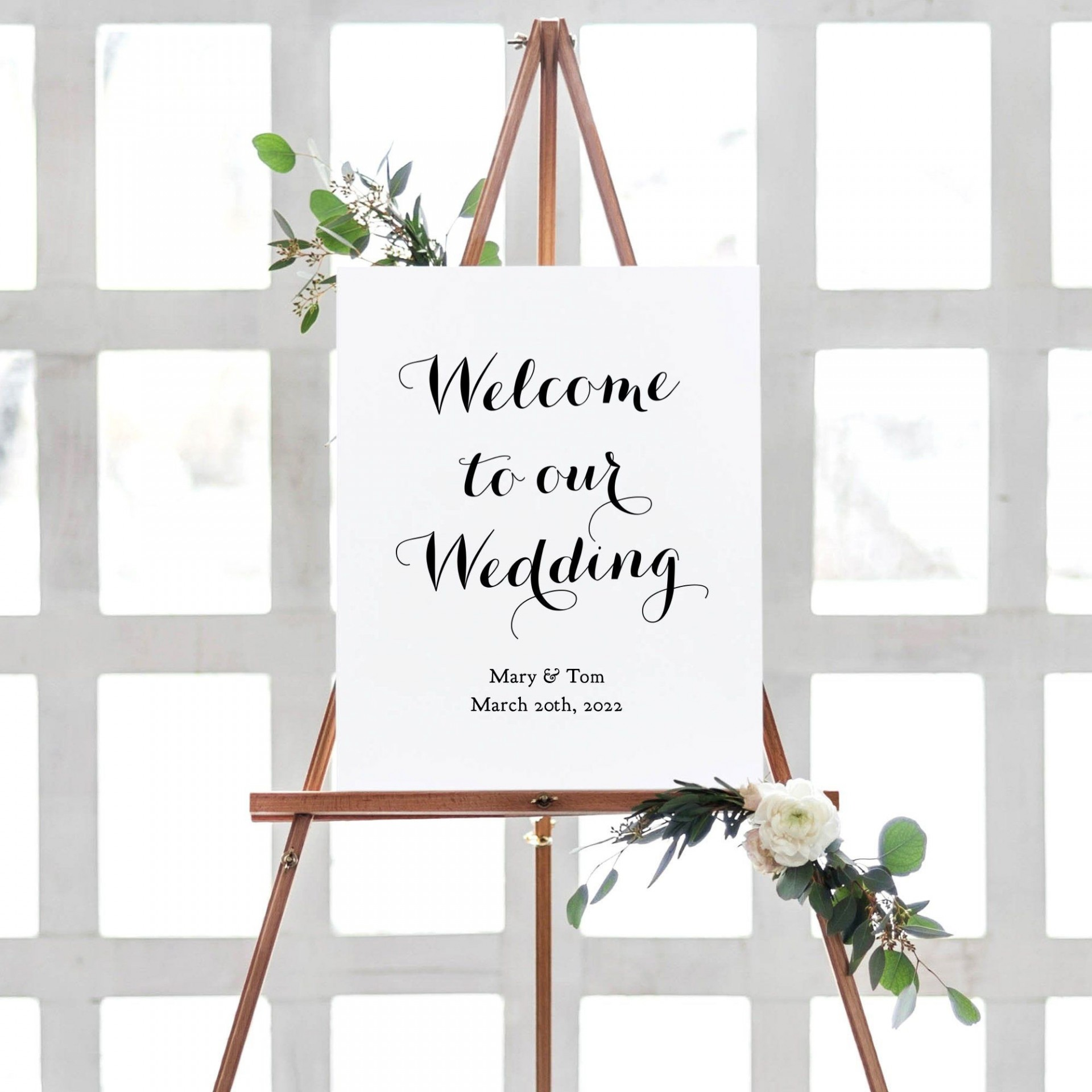 011 Beautiful Wedding Welcome Sign Printable Template Highest Quality  Free1920