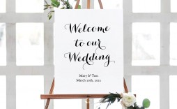 011 Beautiful Wedding Welcome Sign Printable Template Highest Quality  Free