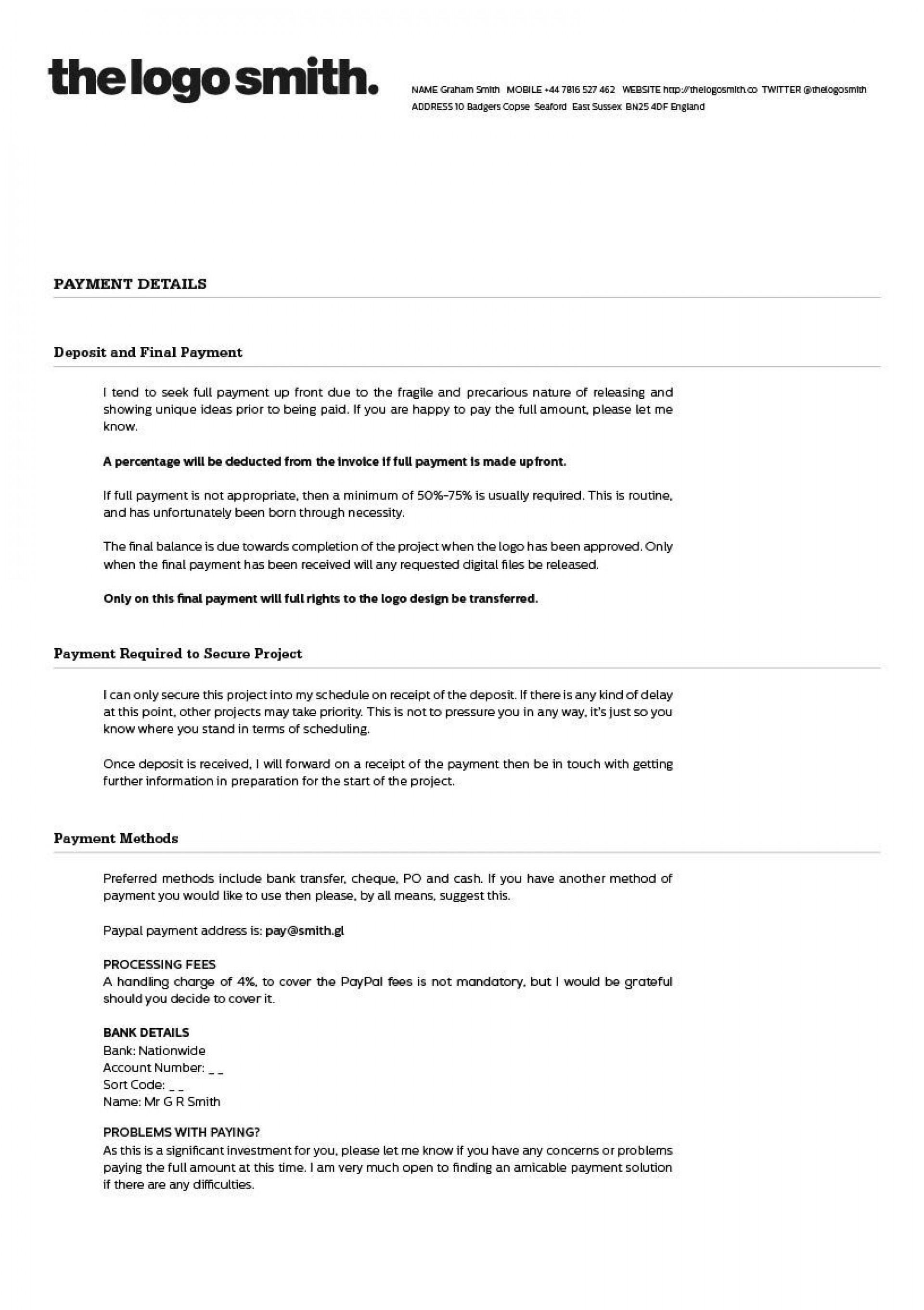 Freelance Graphic Design Contract Template Addictionary
