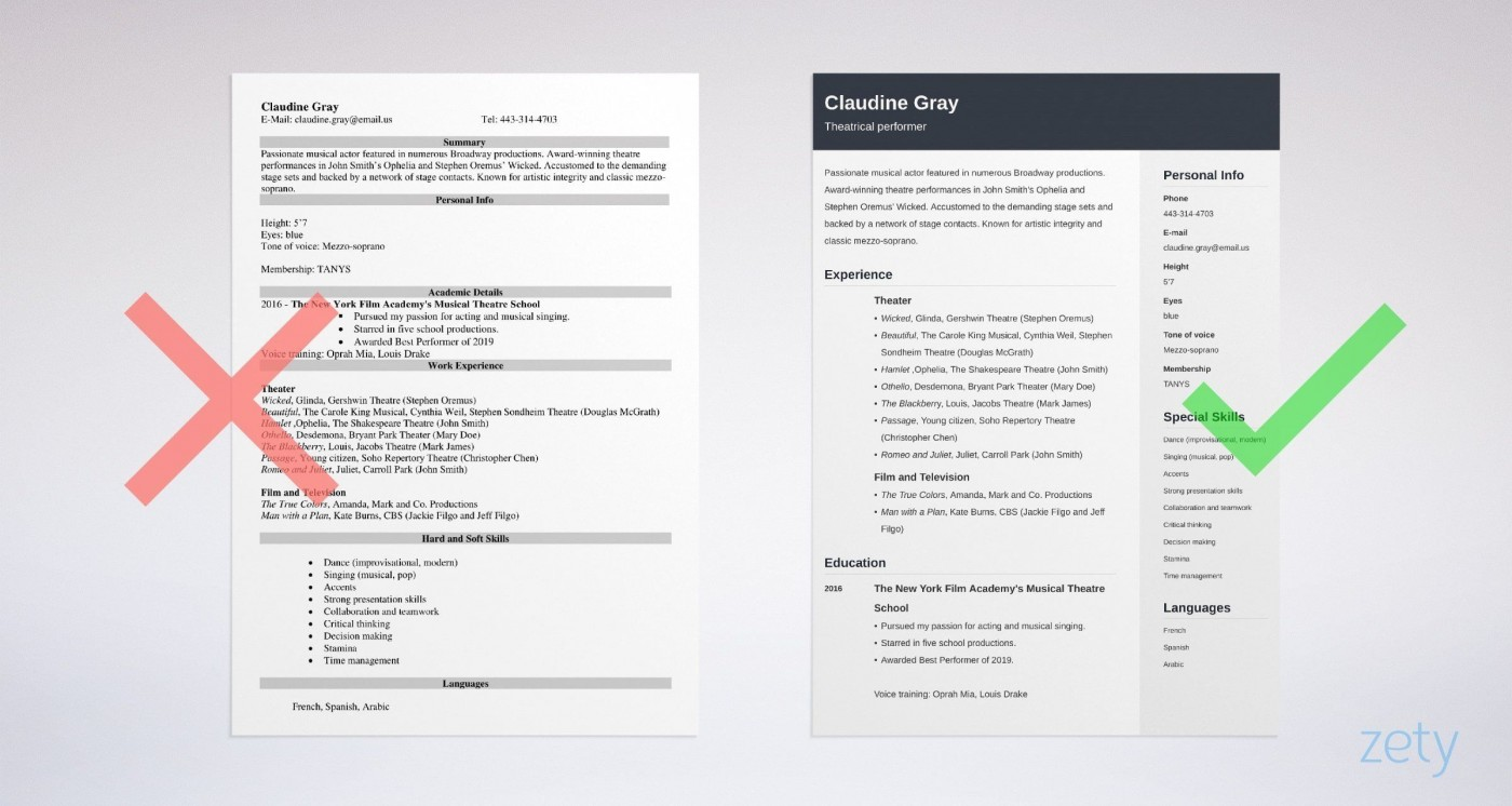 011 Exceptional Musical Theater Resume Template Word High Def  Theatre1400