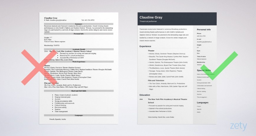 011 Exceptional Musical Theater Resume Template Word High Def  Theatre868