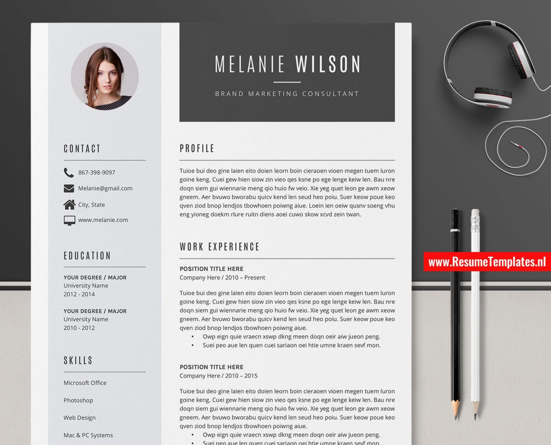 011 Fantastic Simple Professional Cv Template Word Image 1920