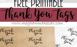 011 Fascinating Free Printable Thank You Gift Tag Template Sample  Templates
