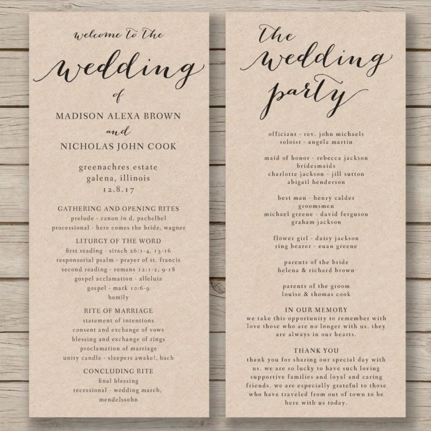 011 Fascinating Free Wedding Order Of Service Template Word Concept  Microsoft1400