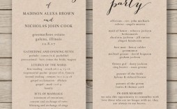 011 Fascinating Free Wedding Order Of Service Template Word Concept  Microsoft
