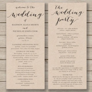 011 Fascinating Free Wedding Order Of Service Template Word Concept  Microsoft320