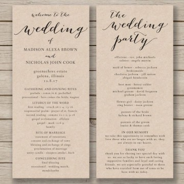 011 Fascinating Free Wedding Order Of Service Template Word Concept  Microsoft360