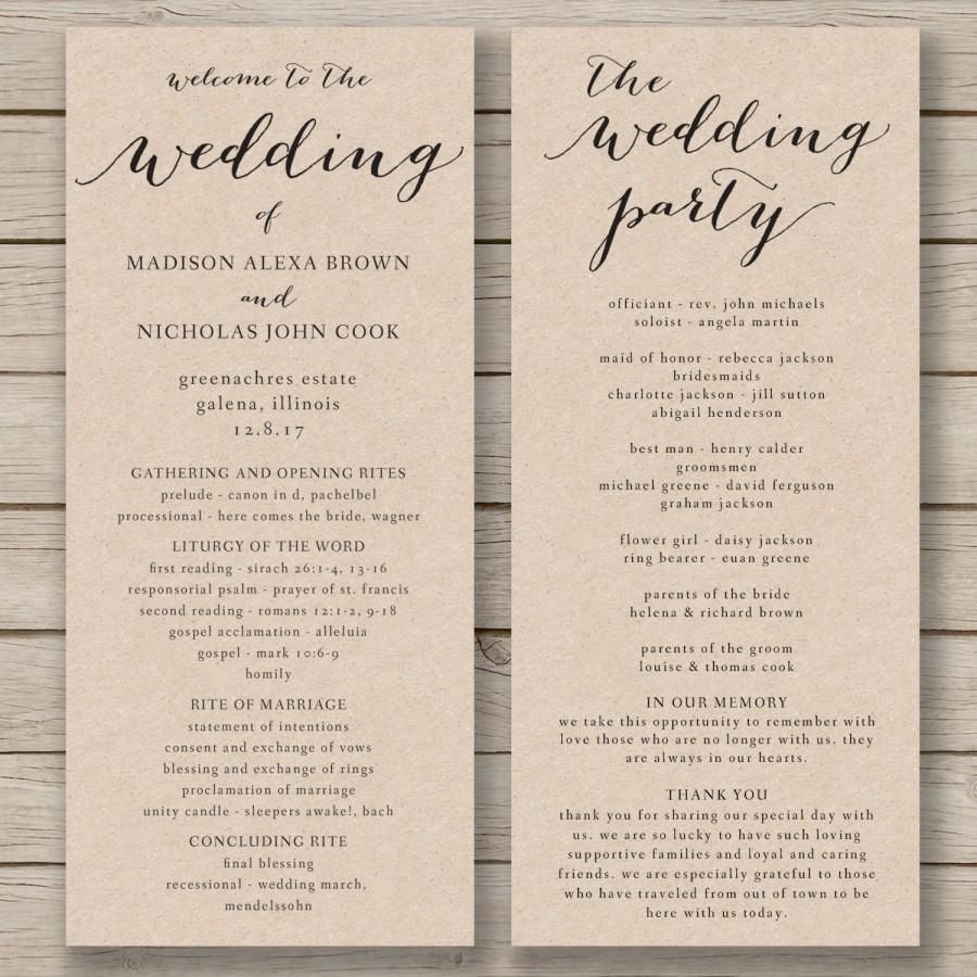 011 Fascinating Free Wedding Order Of Service Template Word Concept  MicrosoftFull